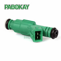 Free Shipping 1PCS High Flow 440CC Green Giant EV6 Fuel Injector 0280155968 9202100 For Audi A4