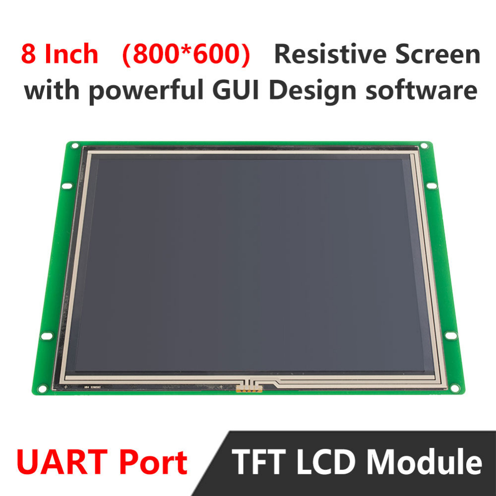 Open Frame Monitor 8.0 Inch With Touchscreen + UART Serial Port + Software For Industrial HMI Control