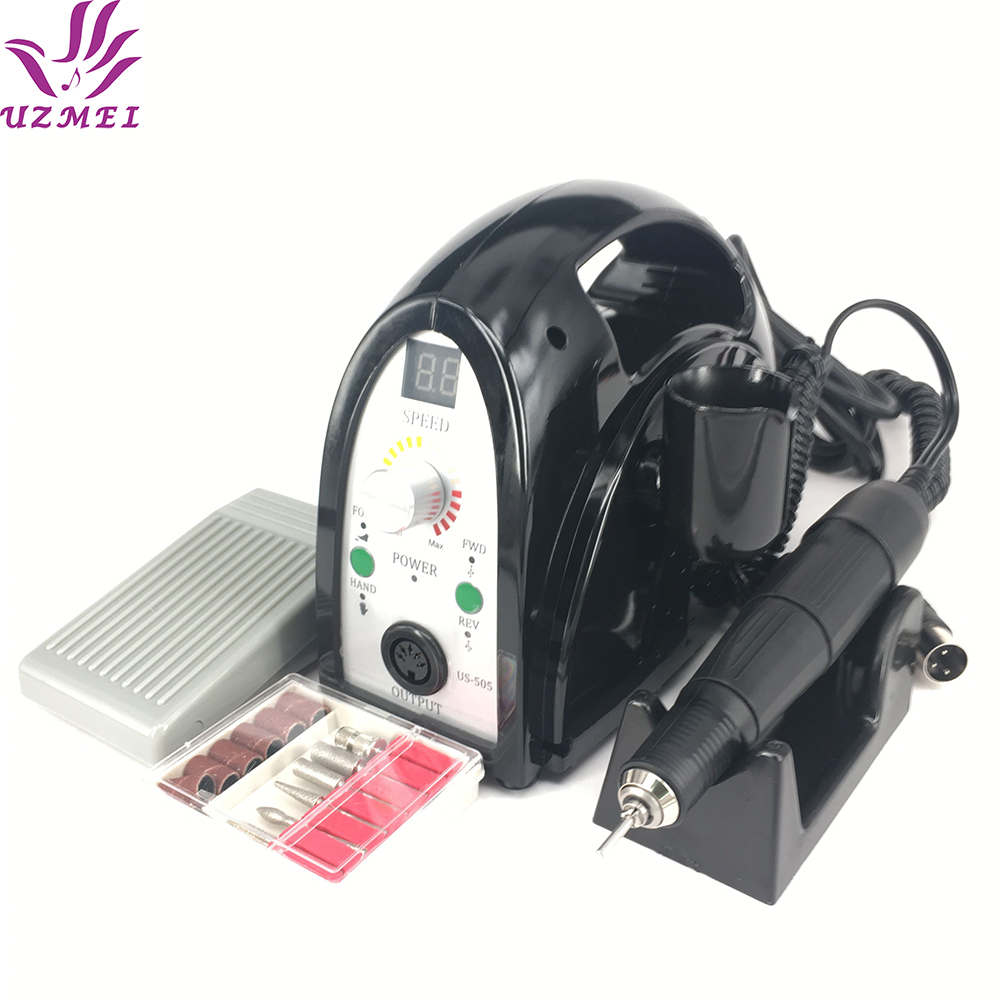 2017 New Professional 65W 35000RPM Electric Nail Drill Machine File Kit Bits Manicure Pedicure kits for salon use for nail tools 2017 new 65w 35000rpm electric nail drill machine file kit bits manicure pedicure kits nail drill machine with lcd display