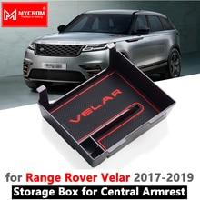 Подлокотник ящик для хранения для Land Rover Range Rover велярный 2017 2018 2019 2020 Укладка Уборка автомобилей Организатор против скольжения аксессуары