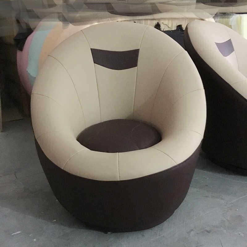 Single Sofa Bedroom Round Lounge Chair