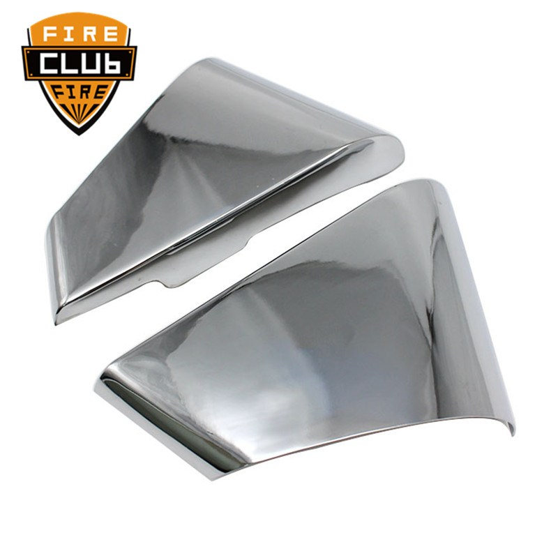 One Pair Chrome Motorcycle Left & Right Battery Side Covers Fairing For Yamaha Star Virago XV250 125One Pair Chrome Motorcycle Left & Right Battery Side Covers Fairing For Yamaha Star Virago XV250 125