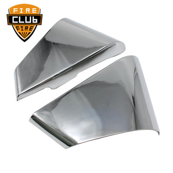 One Pair Chrome Motorcycle Left & Right Battery Side Covers Fairing For Yamaha Star Virago XV250 125