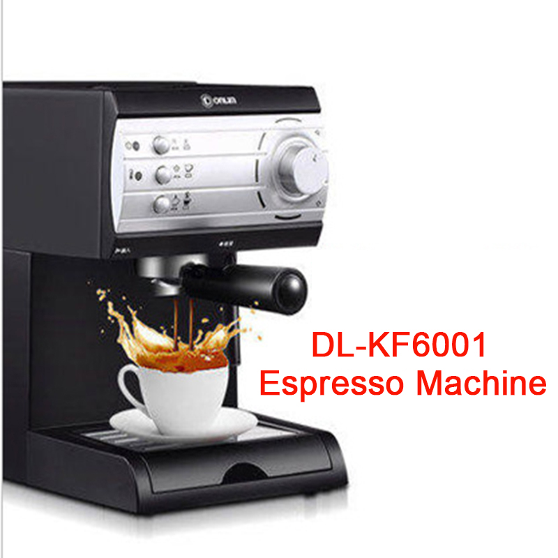 Semi-automatic Pump Pressure Coffee Maker Household Steaming Italian coffee machine pump pressure coffee maker DL-KF6001 pump pressure type coffee machine is used for the commercial italian semi automatic steam