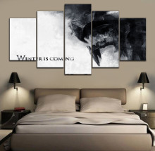 Modern Painting Wall Art Decorative 5 Panels Movie Game of Thrones Unique Picture Home Living Room Canvas Poster
