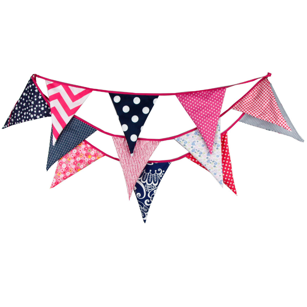 √1pcs 3.7M 12Flags Black Dot Red Rose Baby Party Wedding Shooting ...