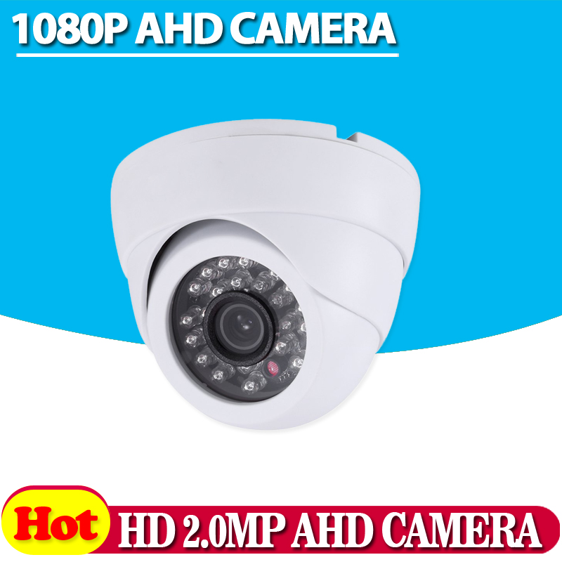Special offer CCTV 1080P AHD Camera Security Home IR Cut Mini Indoor White Dome 24led Infrared Night Vision 2.0MP Surveillance new home 2mp hd ahd 1080p camera security cctv white dome 2pcs array infrared night vision surveillance camera ahd h system