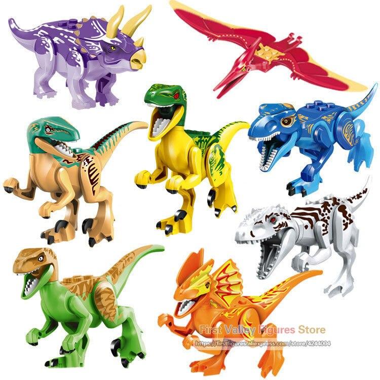 Dr.tong 77021 8pcs/lot Jurassic Century Park World The Dinosaur Sale Building Blocks Sets Models Toys For Children Gift Toys We Take Customers As Our Gods Blocks