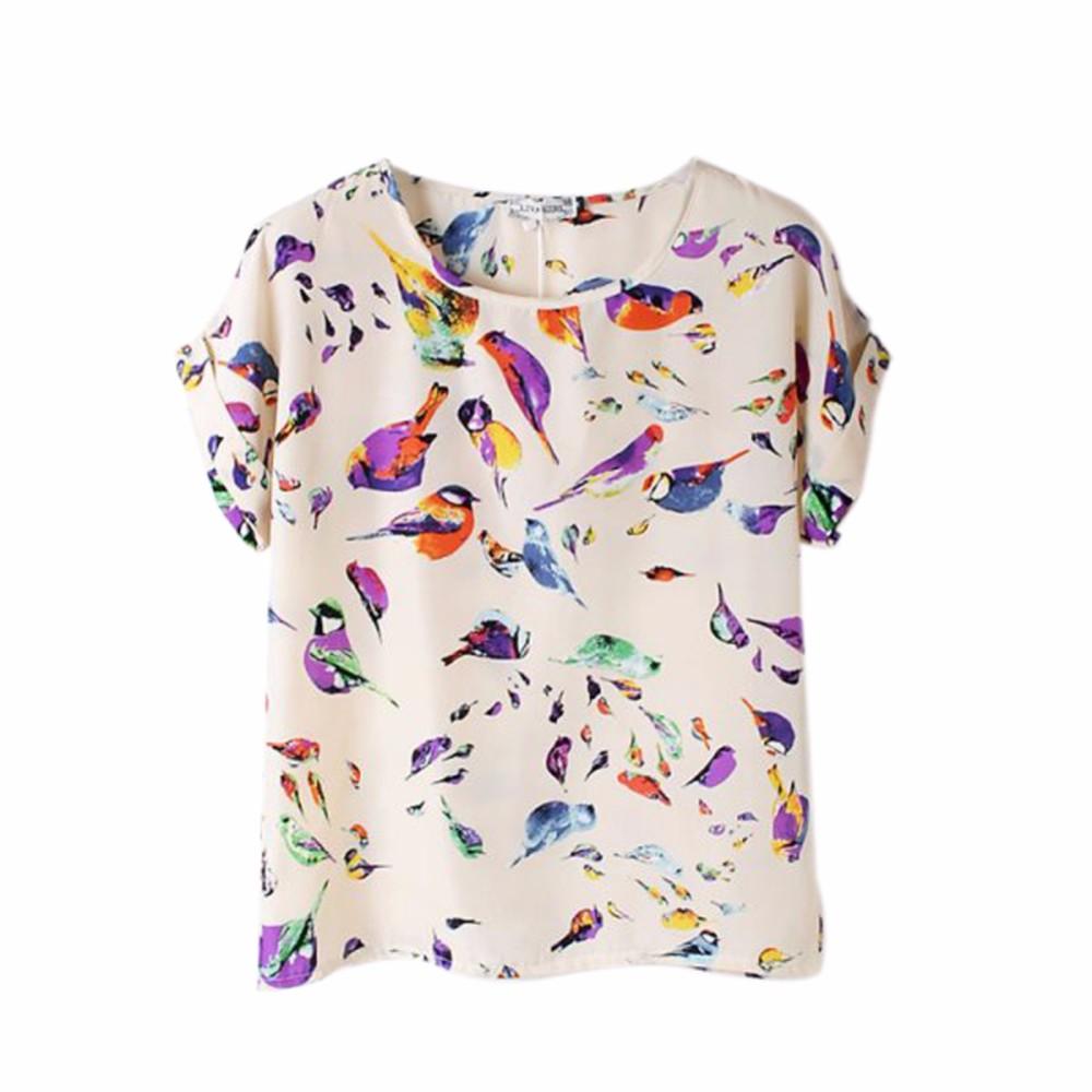 HTB1dbzqKpXXXXcnaXXXq6xXFXXXm - 2017 Summer Funny Birds Printing Womens Loose T-Shirt