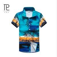 Brand Clothing Summer Men S Beach Shirts Men Short Sleeve Floral Loose Casual Shirts Men Clothes
