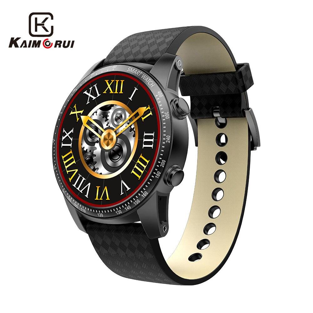 MTK6580 Kaimorui Android Relógio Inteligente 512 MB + 8 GB Quad Core 3G Smartwatch Relógio Bluetooth WiFi GPS Chamada lembrete de Homens Relógio de Pulso