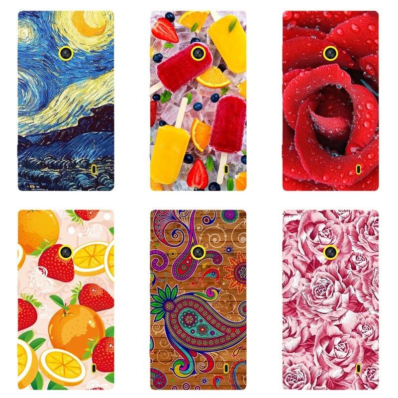 Luxury Printing Case For Nokia Lumia 520 Art Print Flower