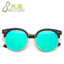 GUANGDU Redondas Steampunk Gafas De Sol Mujeres Retro Marco de gafas de sol mujeres Diseñador de la Marca de moda gafas de Sol de La Vendimia gafas de sol 3008