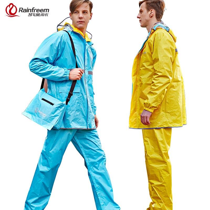 Online Shop Rainfreem Reversible Impermeable Raincoat Women/Men ...