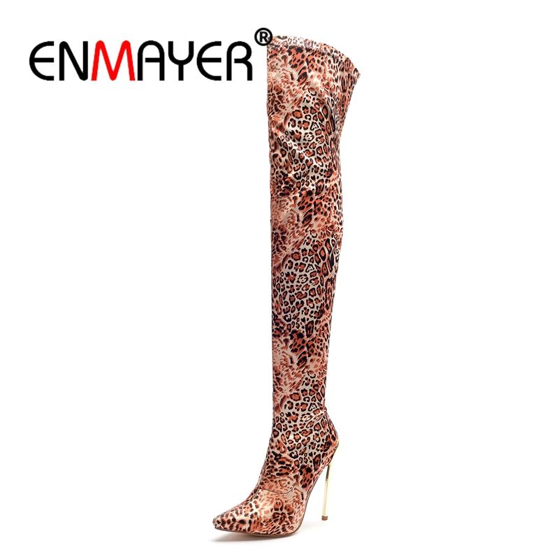 ENMAYER Big size 34-43 Over the knee boots Women High heels slim thigh high Boots knee High boots Pointed toe Thin heels CR717ENMAYER Big size 34-43 Over the knee boots Women High heels slim thigh high Boots knee High boots Pointed toe Thin heels CR717