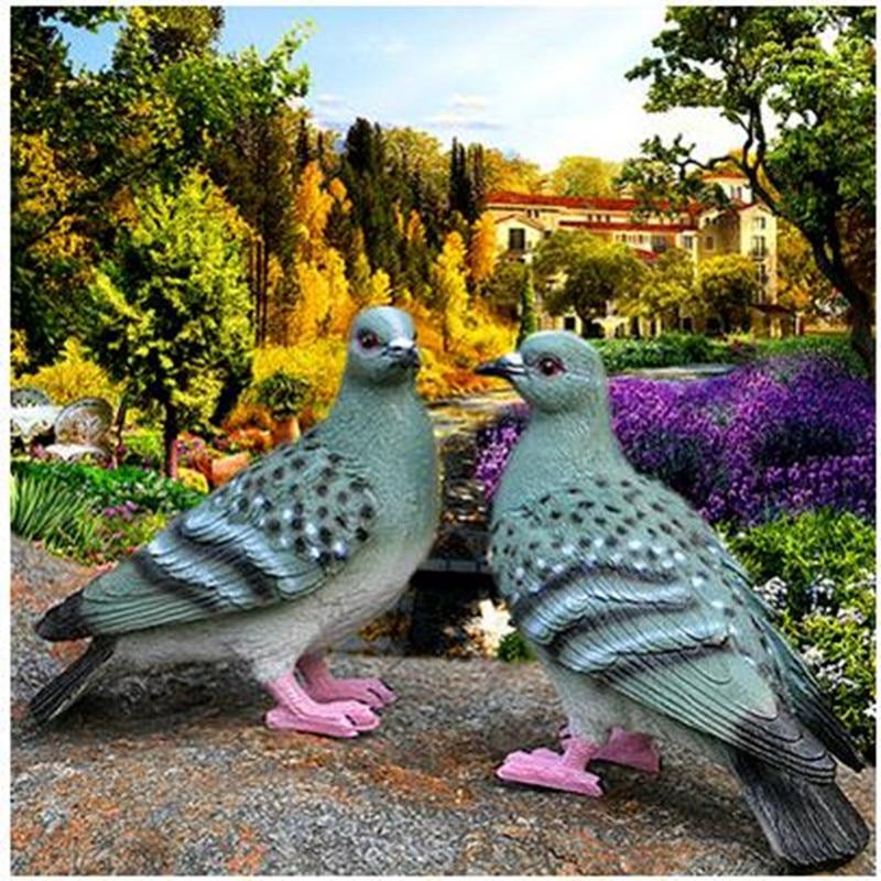 Oriģinālie mājas rotājumi sveķu putnu mājas amatniecība Kāzu - Mājas dekors - Foto 6