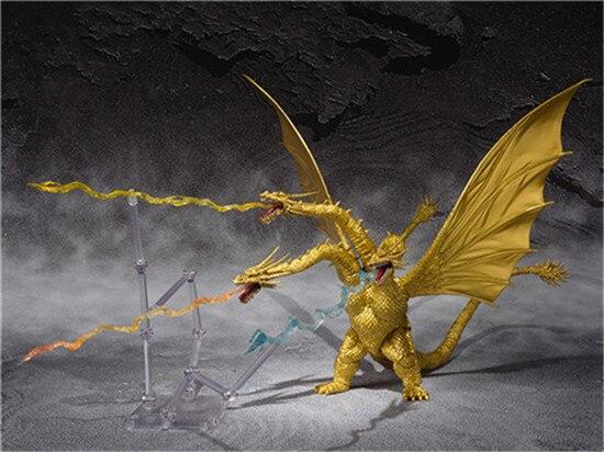 Film 3 tête Dragon doré roi Ghidorah BJD Joints mobiles PVC figurine à collectionner modèle jouets