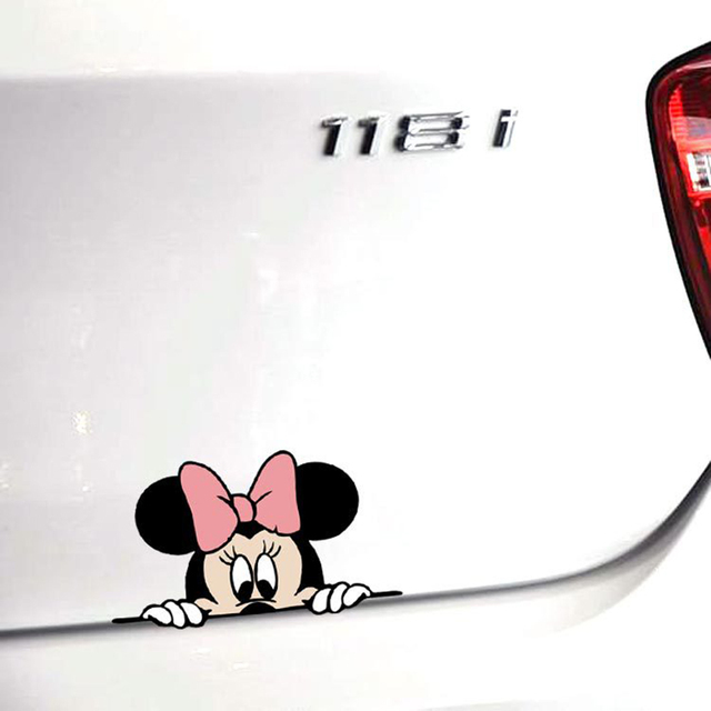 Minnie Mouse Printed Car Sticker