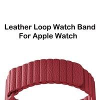 Strap Bracelet Closure Loop Magnetic Genuine Leather Loop Band For Apple Watch Band Series 1 2