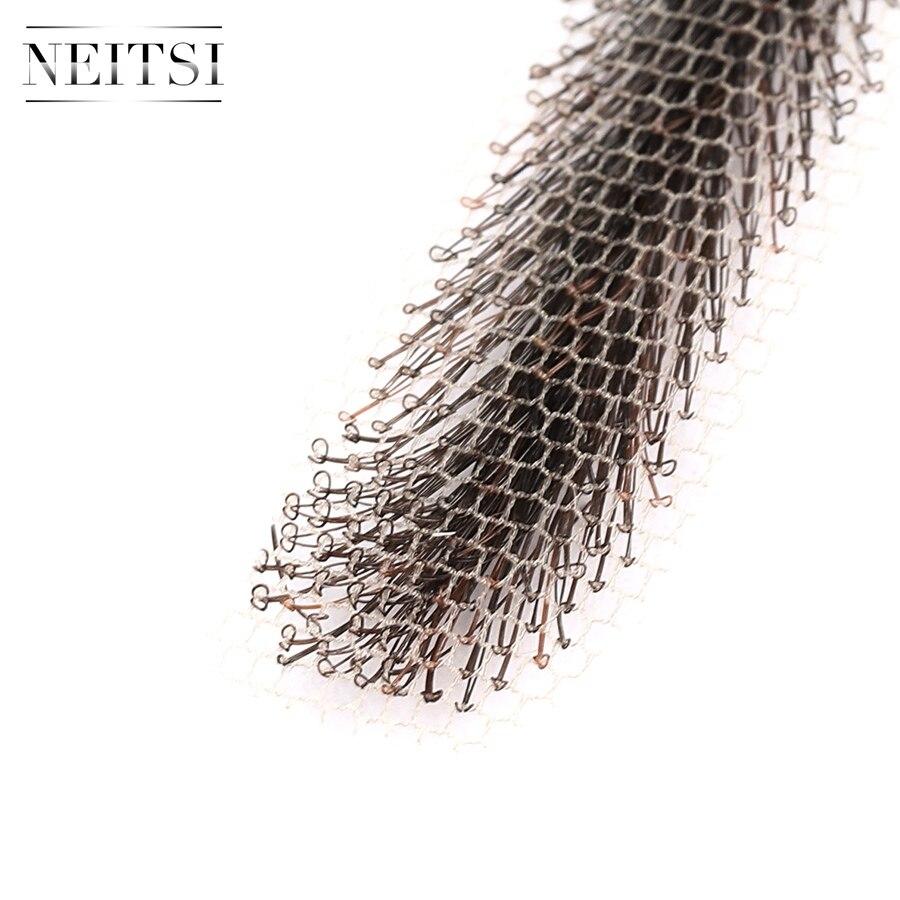 Image 4 - Neitsi Woman One pair 100% Human Hair Lace Base Fake Eyebrows KS W705Eyebrow Enhancers   -