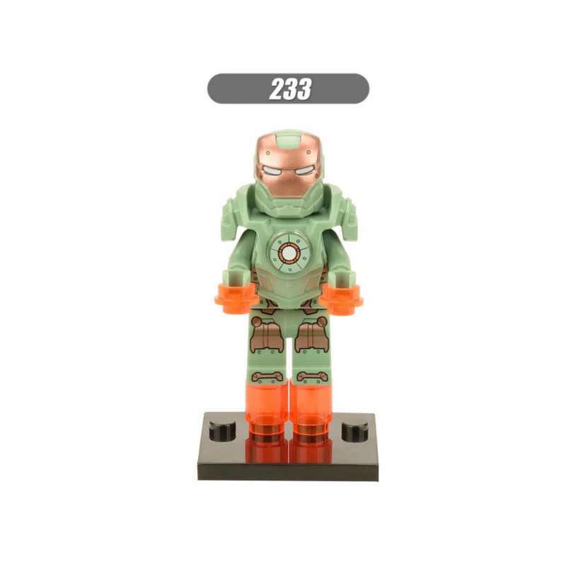 מכירה אחת סופר גיבורי מלחמת כוכבים 233 ברזל-איש דגם מיני בניין בלוקים לבני דמות צעצוע ילדים מתנה