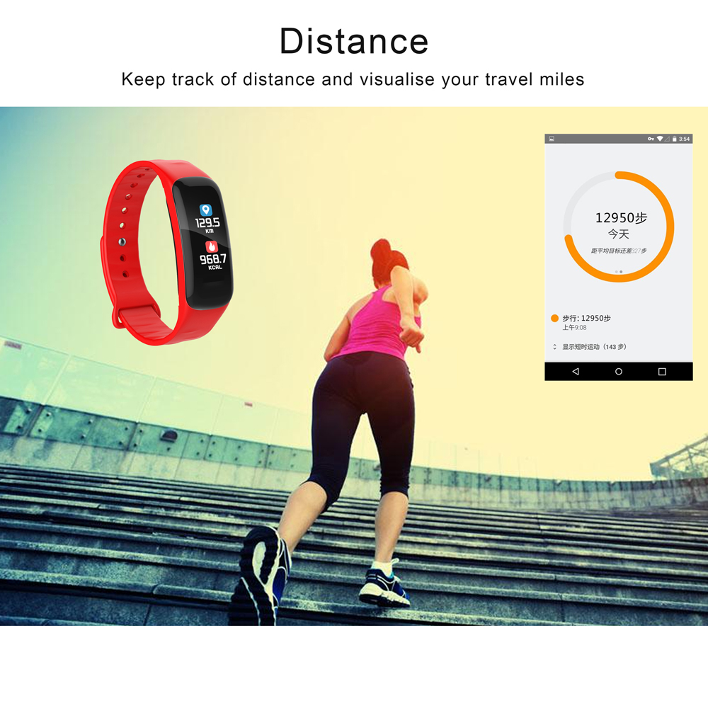 TREZER C1P Fitness Bracelet Heart Rate Monitor Color Screen Blood Pressure Measurement Smart Wristband for IOS Android Phone (6)