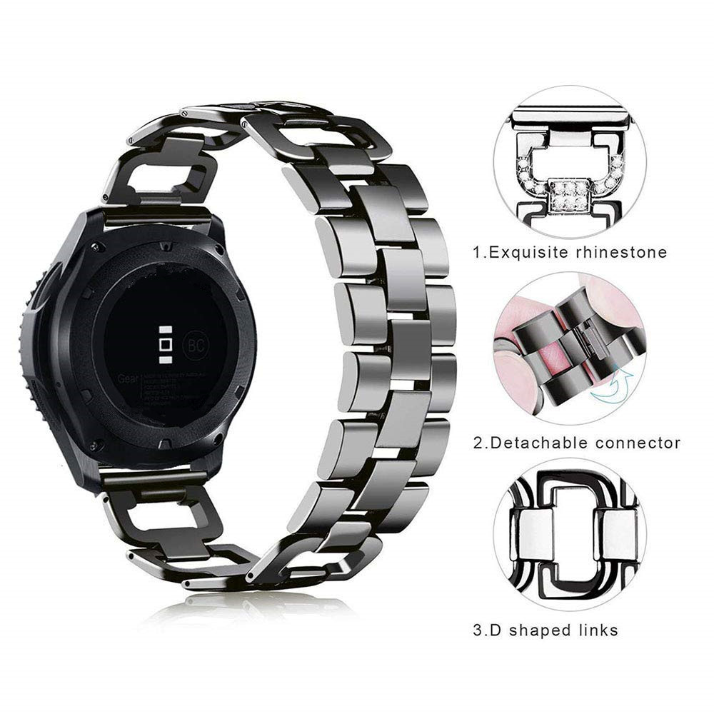Watch-Band-for-Samsung-galaxy-watch-46mm-Gear-S3-Classic-Rhinestone-Diamond-Stainless-Steel-Metal-Bracelet