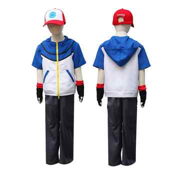 Adult child Quality Pokemon Ash Ketchum Cosplay Costume Hoodies + Pants + Gloves + Hat Ash Ketchum Halloween Costumes - DISCOUNT ITEM  10% OFF Novelty & Special Use