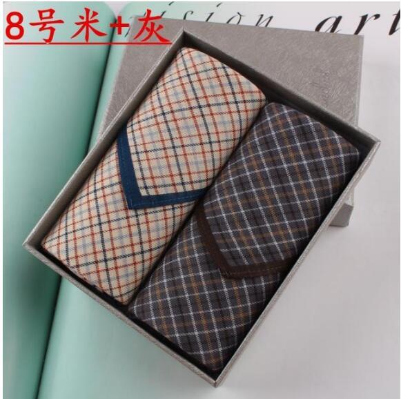Men Furoshiki Handkerchief Toalha 100% Cotton Pocket Handkerchiefs 43X43cm 2017 Hanky Black