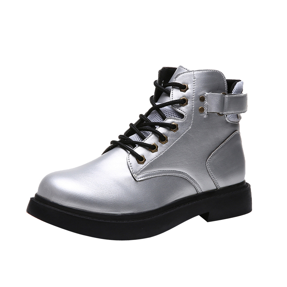 5b170fa0d56 winter Lace-Up Fashion ankle boots for women botas femininas black hunter  martin boots Plus Size woman motorcycle shoes