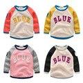 Bebê de veludo t-shirt camisa básica moletom criança do sexo masculino top 2016 das crianças clothing criança outerwear pullover