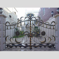 Henchuang Custom All Dimension Of Wrought Iron Gate Or Forged Iron Gate Villa Wrought Iron Gate