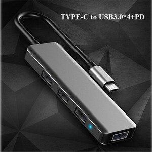 Image 3 - Multifonction USB type c Station daccueil USB C HUB vers USB 3.0 RJ45 VGA adaptateur pour MacBook Samsung Galaxy S8 S9 HUAWEI Matebook