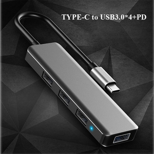 Image 3 - Multifunction USB Type c Docking Station USB C HUB To USB 3.0 RJ45 VGA Adapter for MacBook Samsung Galaxy S8 S9 HUAWEI Matebook