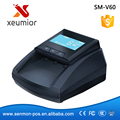 EURO Counterfeit Money Detector Detector de Dinero Portátil Caja Escáner SM-V60
