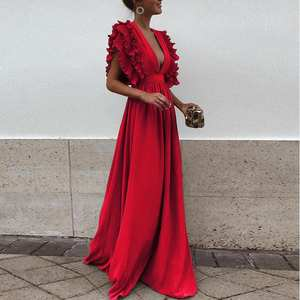 9524fab337b top 10 most popular v neck long sleeve bohemian elegant autumn dress ...