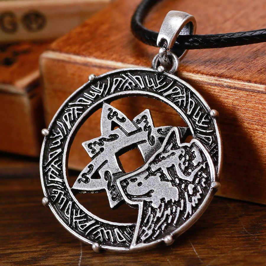 วินเทจหมาป่า Lada Star จี้ Amulet Slavic หมาป่า Star Lada จี้ 1 pc