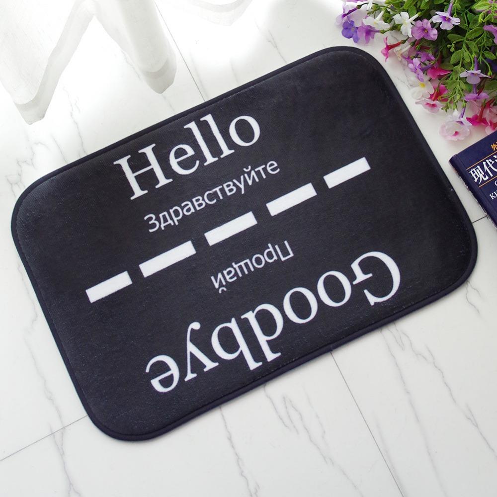 CAMMITEVER Hallo Hause Abschied Teppich Fr Wohnzimmer Boden Teppiche Englisch Russisch Sprache Dekoration Matten
