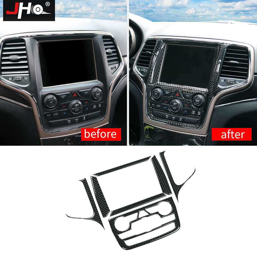 JHO Center Console Navigation Panel Cover Trim For 2014 19 Jeep Grand Cherokee 2015 2016 17