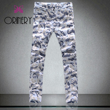 ORINERY 2017 New Designer Leopard Printed Jeans Men High Quality Fashion Skinny Jeans Men Denim Pencil Trousers Brand Clothing
