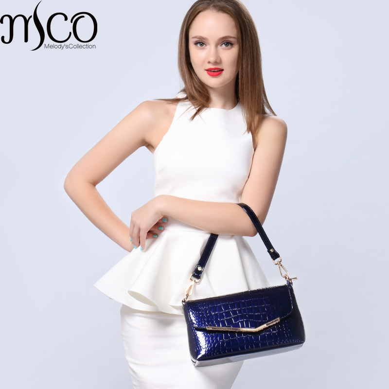 ФОТО Elegant Women Mini Shoulder Bag Office Ladies OL Messenger Bags For Women Crocodile Effect PU Handbag Crossbody Envelope Clutch