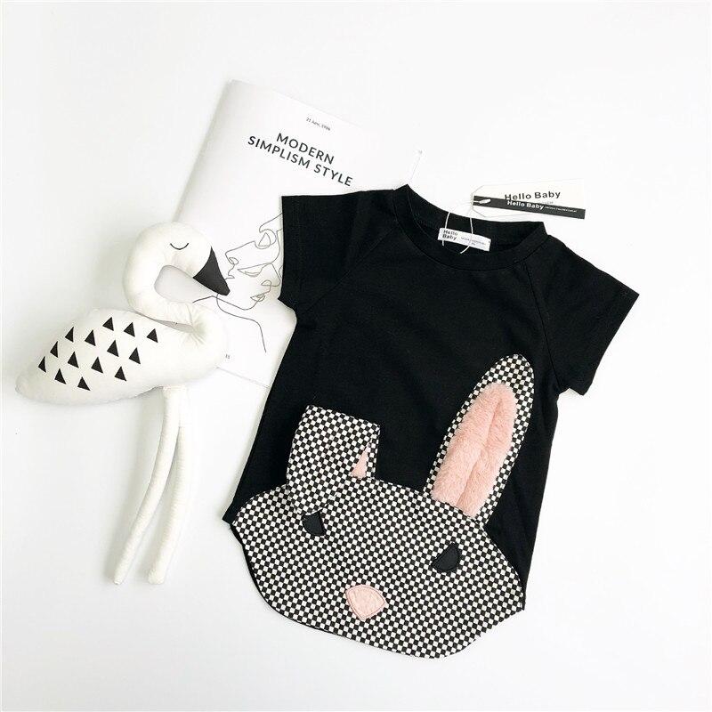 Enkelibb T-Shirt Animal-Tops Bunny Kids Clothing Baby-Girl Children Summer Lovely