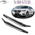 F16 Carbon Fiber Headlight Eyelids Eyebrows Covers For BMW X6 F16 2016