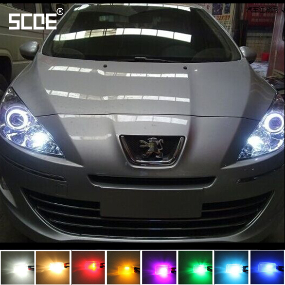 SCOE Car Styling 2x6SMD LED Front Clearance Light Marker Lamp For Peugeot 206 207 307 301 Crystal Blue Warm White Red