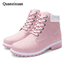 QUANZIXUAN Women Boot Autumn Winter Women Ankle Boots Fashion Woman Snow Boots For Girls Ladies Work Shoes Women Plus Size 36-41(China)