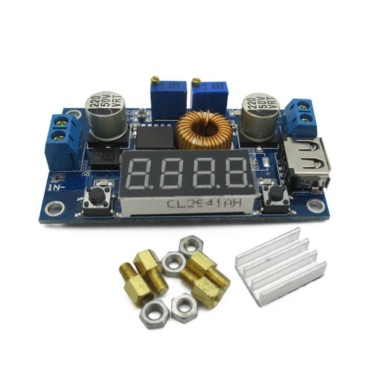 constant voltage constant current step-down power supply with voltage current power display LED driver lithium battery charging 1p original 5a dc to dc cc cv lithium battery step down charging board led power converter lithium charger step down module for