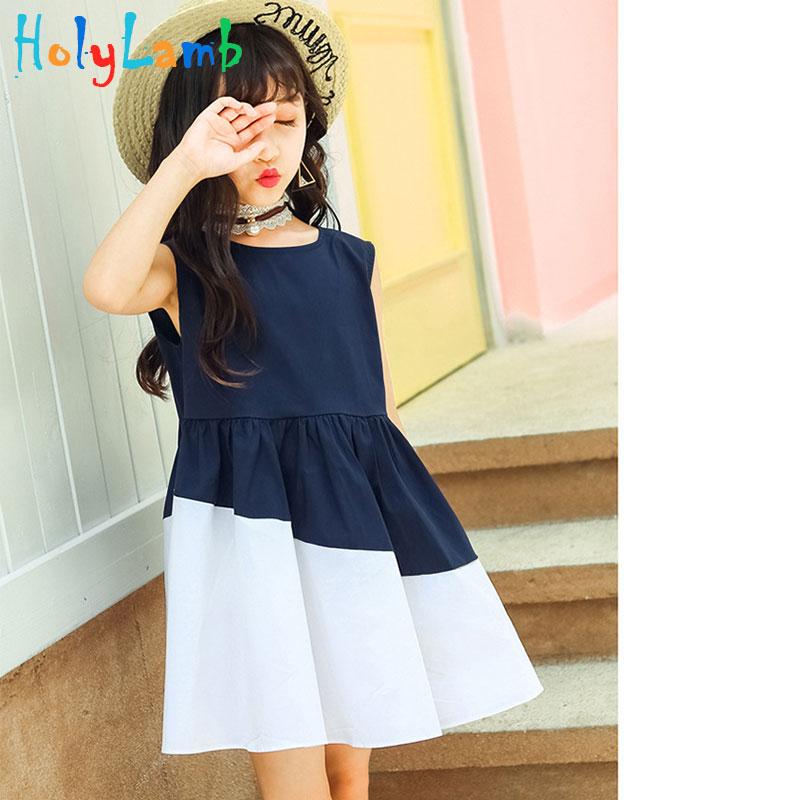Teenage Girls Sundress For Kids Sleeveless Princess Dresses Summer Vestido  Infantil 12 14 Years Big Size Girls Patchwork Dress-in Dresses from Mother    Kids ... adff1d9bc051
