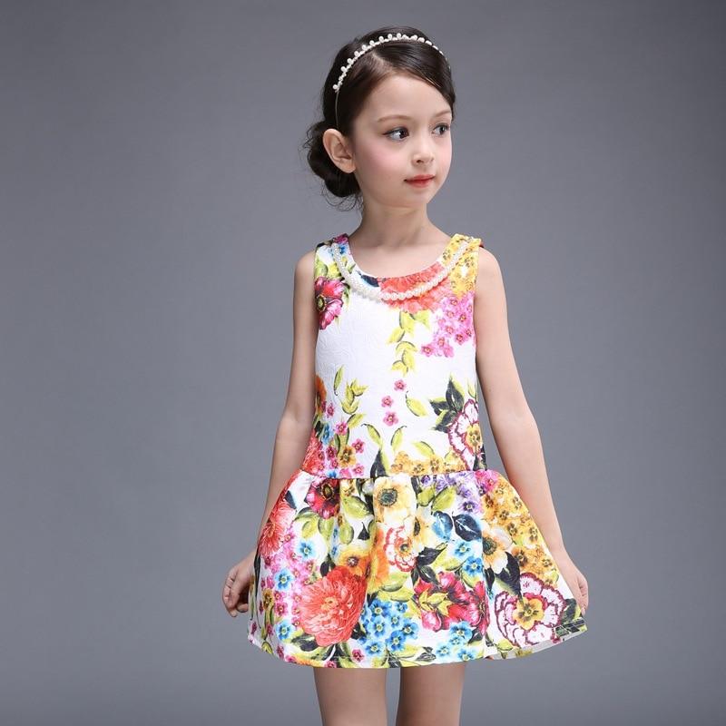 2ee09c997058 Flower Girl Dresses Summer Costume with beads Children Clothing ...