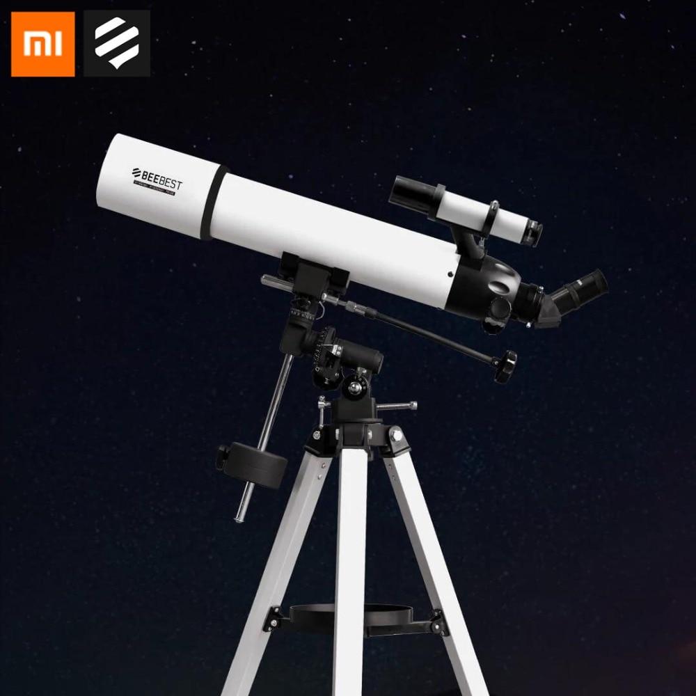 Original Xiaomi profesional BEEBEST telescopio astronómico espacio Stargazing 90mm alta aumento HD conectar teléfono Tomar foto