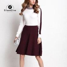 Runway Sweater Dress High Quality Women Dress Midi Cashmere Sweater Dress